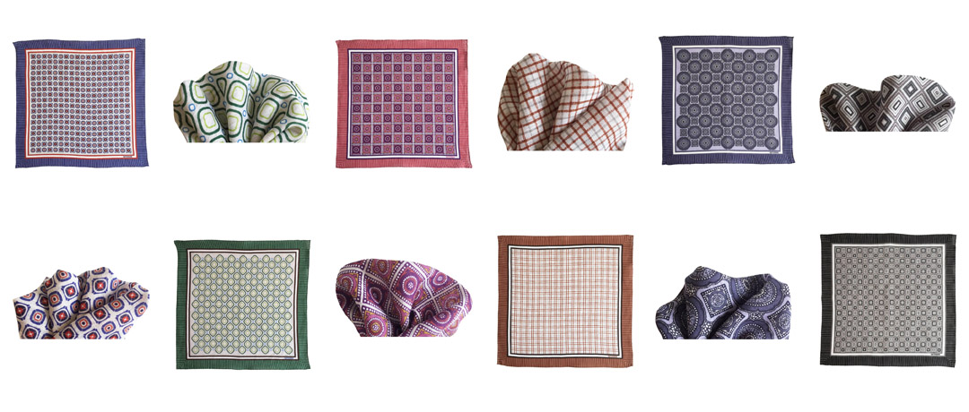 PATTERNON linen pocket square colors