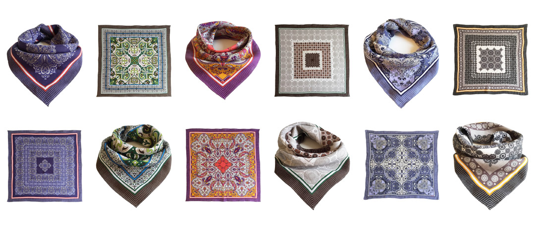 PATTERNON linen scarves colors